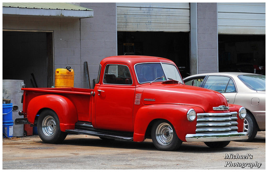 Old Chevy Truck With Chrome Reverse Wheels! by TheMan268 on DeviantArt