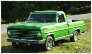 A Hulk Green Ford Truck