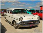A White 1957 Chevy Station Wagon