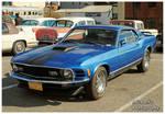 A Blue 1970 Mach 1 Mustang