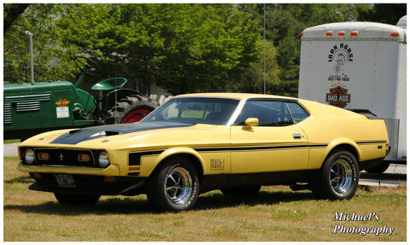 A Yellow Mach 1 Mustang