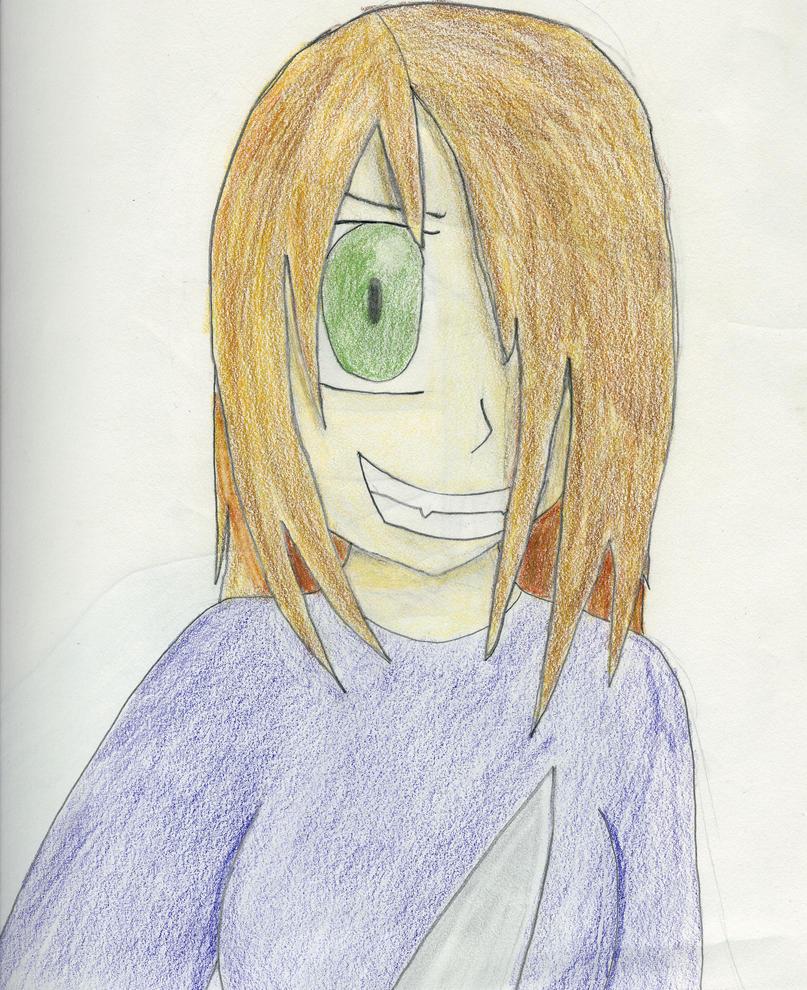 Self portrait (Crazy) by randomchangeling