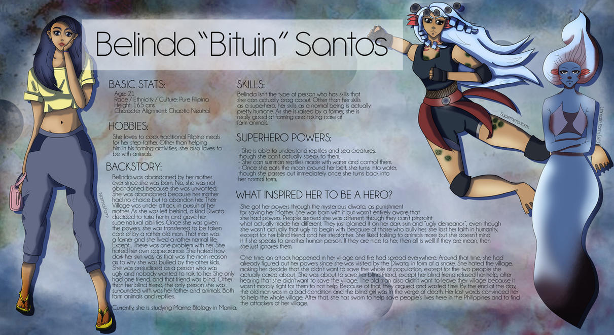 OC: Belinda Santos [Pinoy Superhero Contest] by pika-reichu