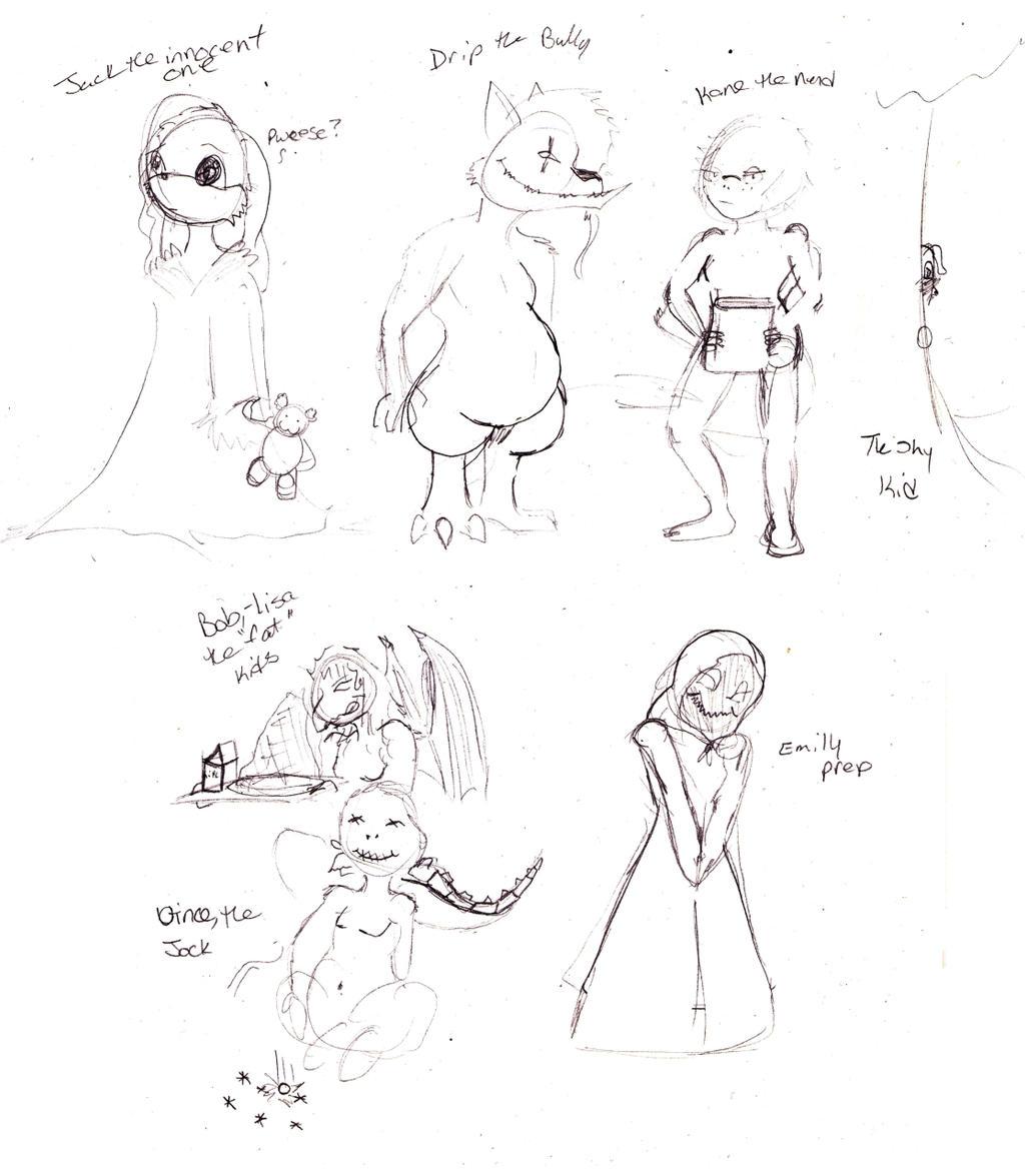 Jack Sins as...kids? by Klebkatt
