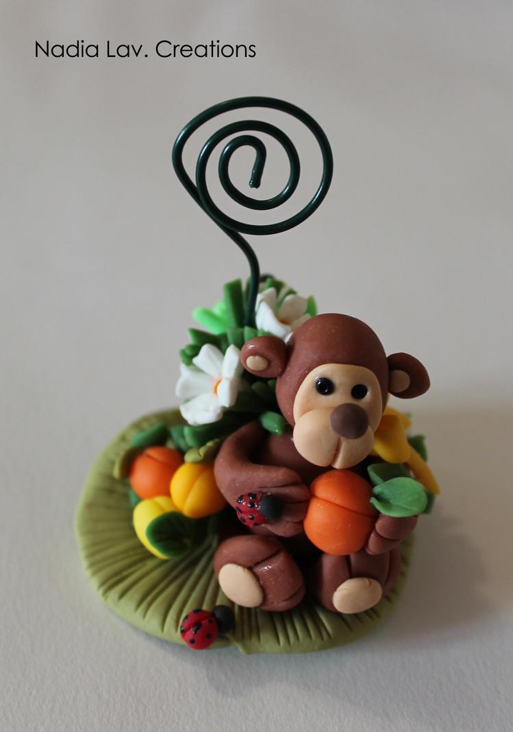 Monkey PhotoFrame in pasta di mais by CaterinaOrlando