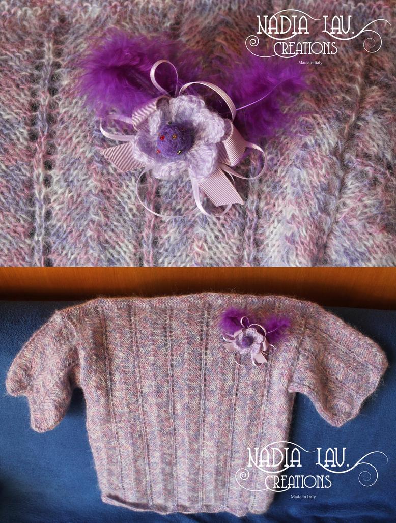 Purple flower pin by CaterinaOrlando