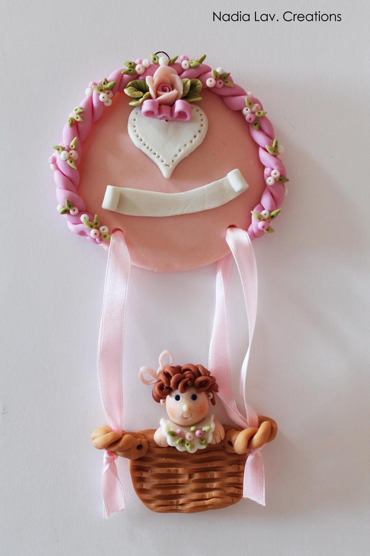 Pink Hot-air ballon by CaterinaOrlando