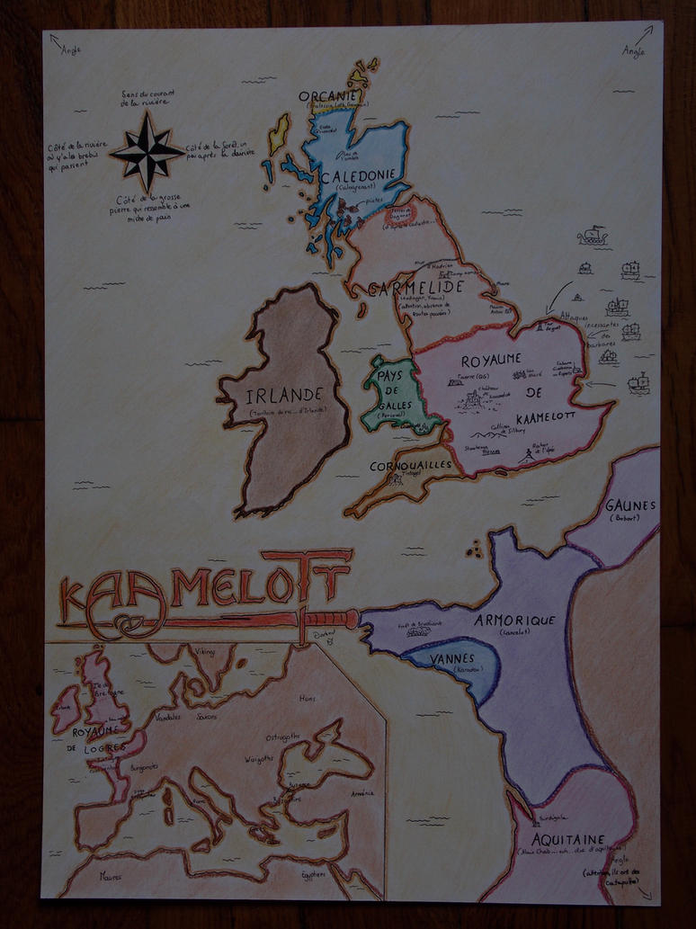 carte europe kaamelott