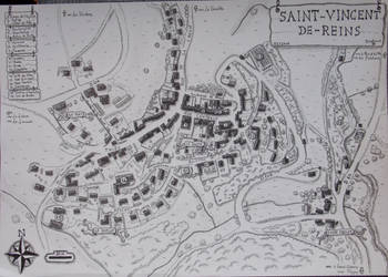 Plan de Saint-Vincent-de-Reins by Cartoria