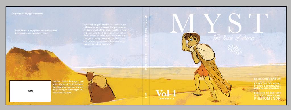 myst Vol 1 cover draft by larkinheather