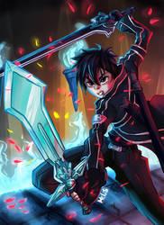 Kirito Sword art online Fanart by Menri
