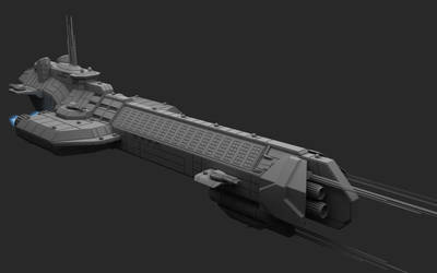 Missile Cruiser Front View by Infinite-Auran