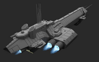 Missile Cruiser Aft View by Infinite-Auran
