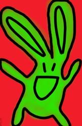 Green Bunny by DJFLuFFy-vs-joe