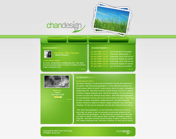 ChanDesign Website Layout by ChanDang