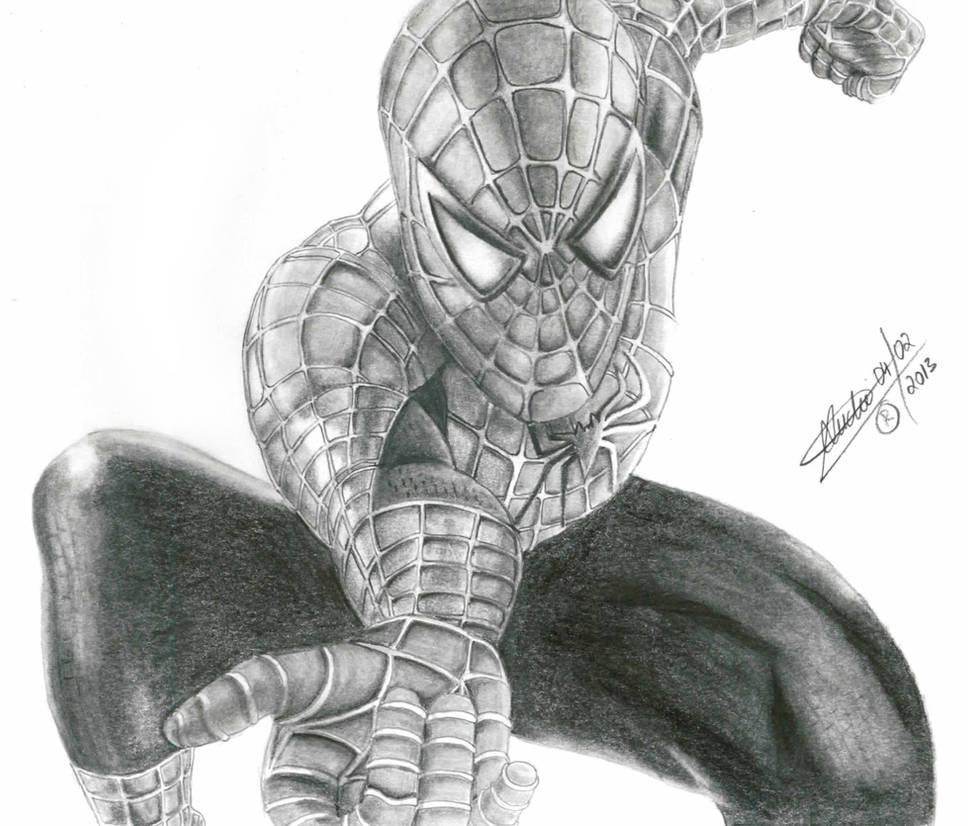 Homem aranha spiderman pencil drawing by andrehfs on deviantart