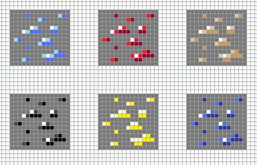minecraft ores pixel art grid by hamagirl on deviantart