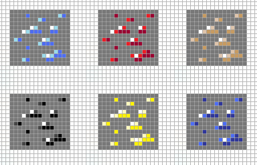 Minecraft Ores Pixel Art Grid By Hama Girl On Deviantart