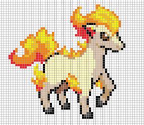 Ponyta Pixel Art Grid