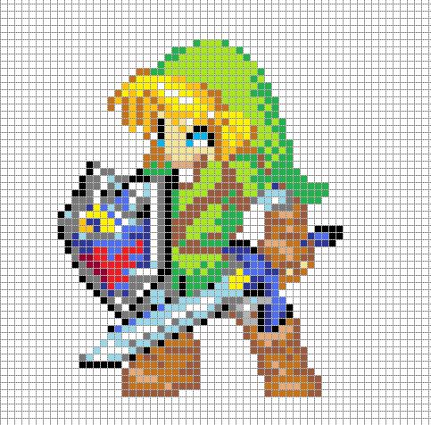 Legend Of Zelda Link Pixel Art Template By Hama GirlPixel