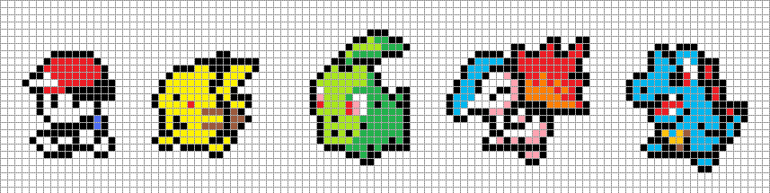Pixel Art With Grid Pokemon Gallery Of Arts And Crafts
