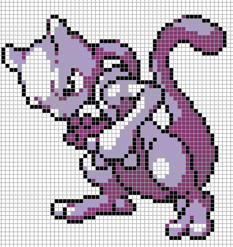 Pixel Art Pokemon Mew Facile