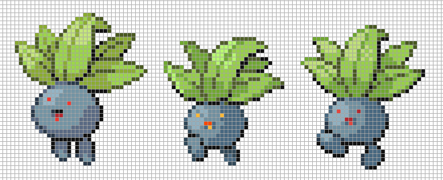 Oddish Set by Hama-Girl