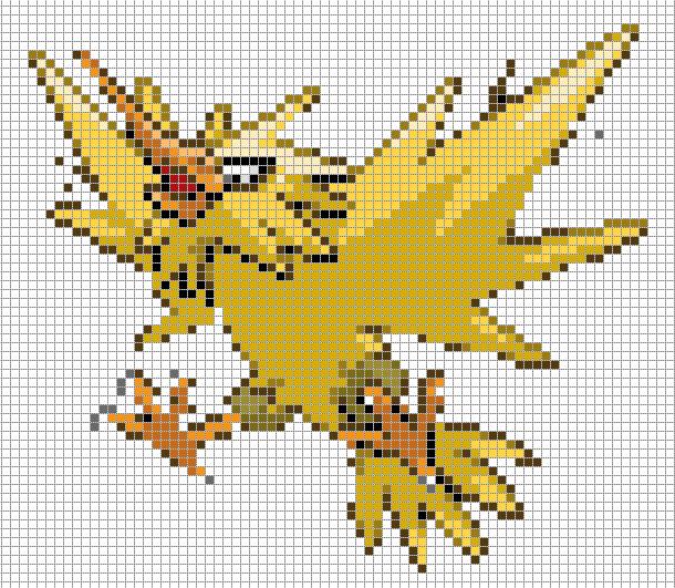 Pikachu Pixel Art Minecraft Easy