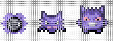 gengar pixel art