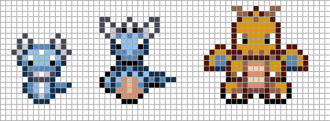 Mini: Dratini, Dragonair, Dragonite by Hama-Girl on DeviantArt