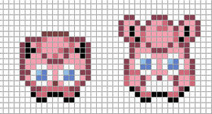 Mini: Jigglypuff, Wigglytuff by Hama-Girl