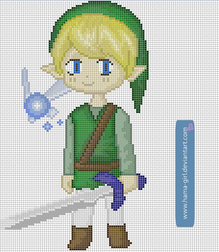 Link Pixel Grid By Hama Girl On DeviantArt Art