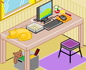 Pixel Desk by Hama-Girl