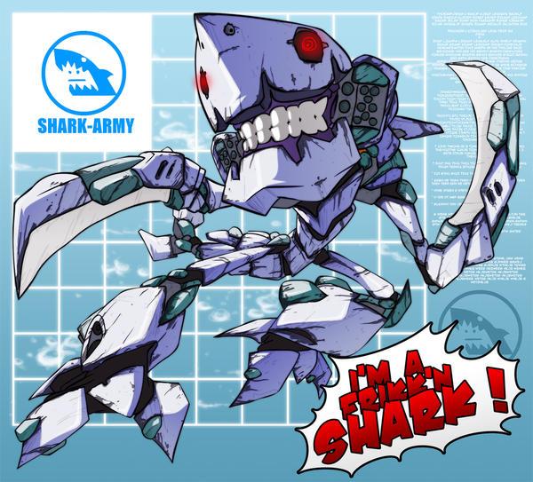 SH-1337 SHARK BATTLE SUIT by SHARK-ARMY