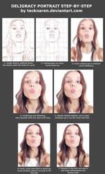 Deligracy portrait: step-by-step, by Tecknaren