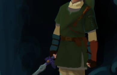 Hero's clothes WIP, by Tecknaren