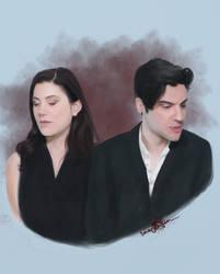 Laura and Billy - vampire edition by Tecknaren
