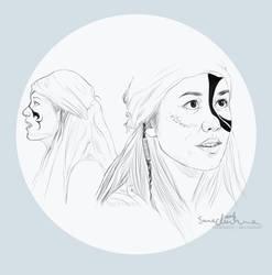 Emori sketches by Tecknaren