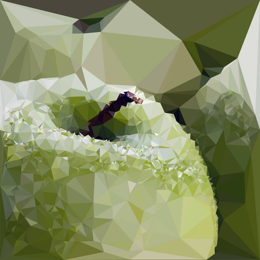 Abstract Art : Fruits : Green Apple by kenkchow