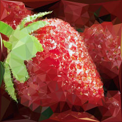 Abstract Art : Fruits : Strawberry