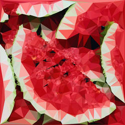 Abstract Art : Fruits : Watermelon