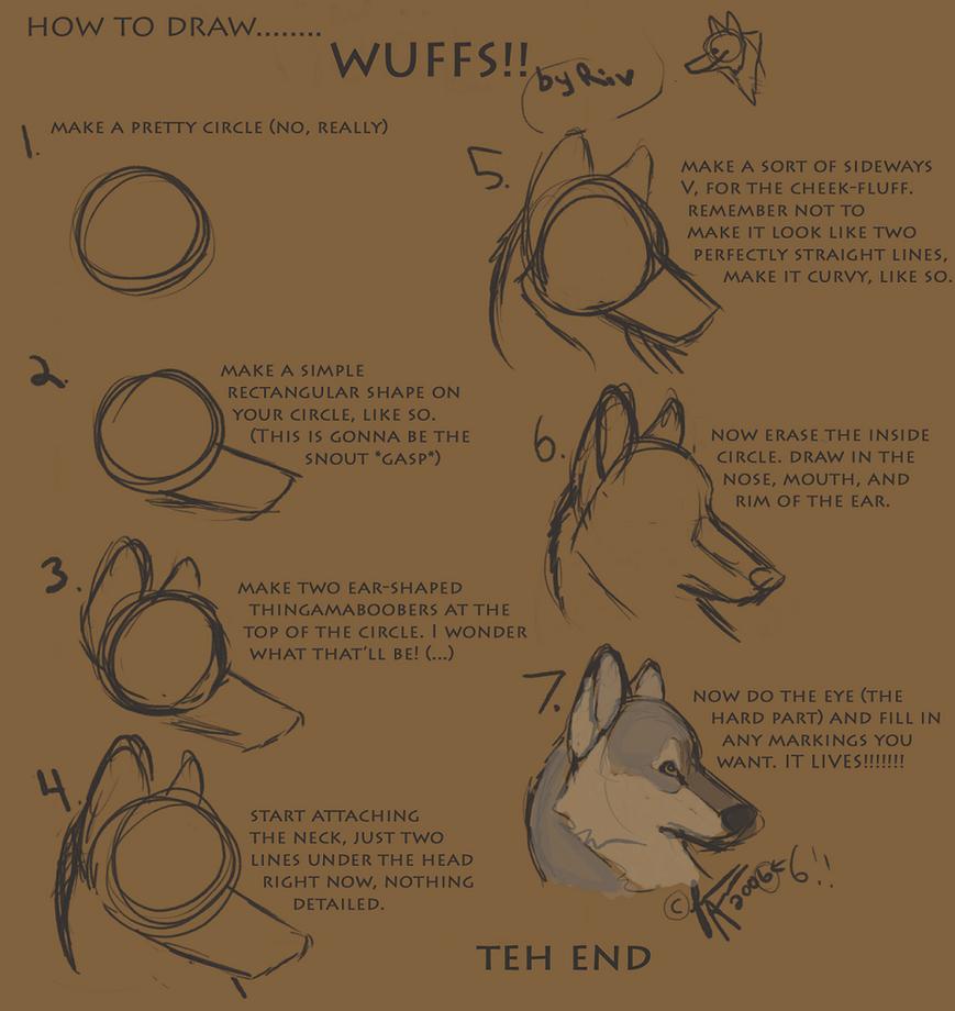 Wolf Head Tutorial by RiverWolf1o413