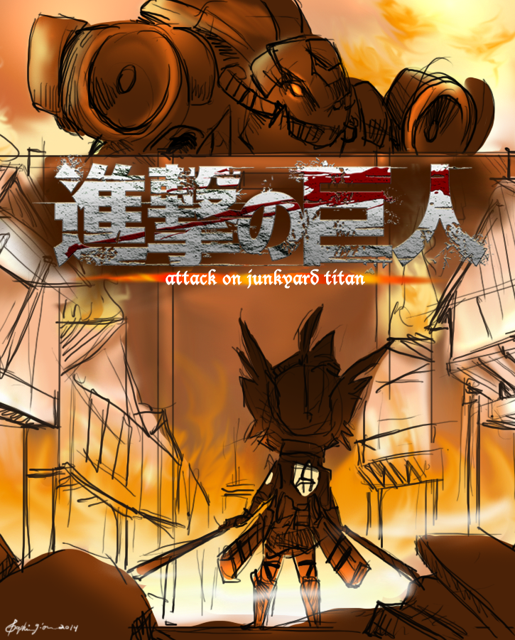 Attack on Junkyard Titan by WhereShadowsThrive