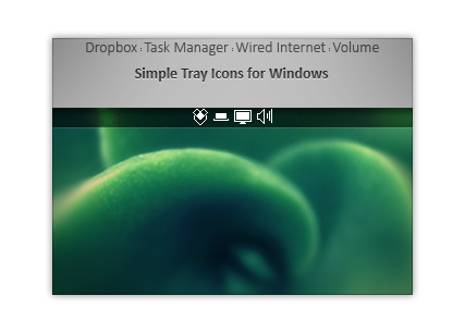 Simple Tray Icons for Windows (white)