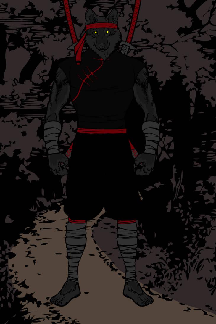 Ninja Werewolf version1 by MercyInk87