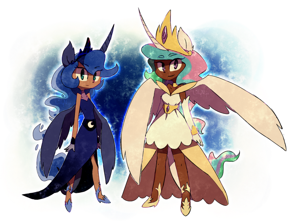 sun and moon by LillyNya