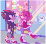 Shadow and Amy shopping day