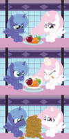 Celestia and Luna Eat their Fruits and Vegetables