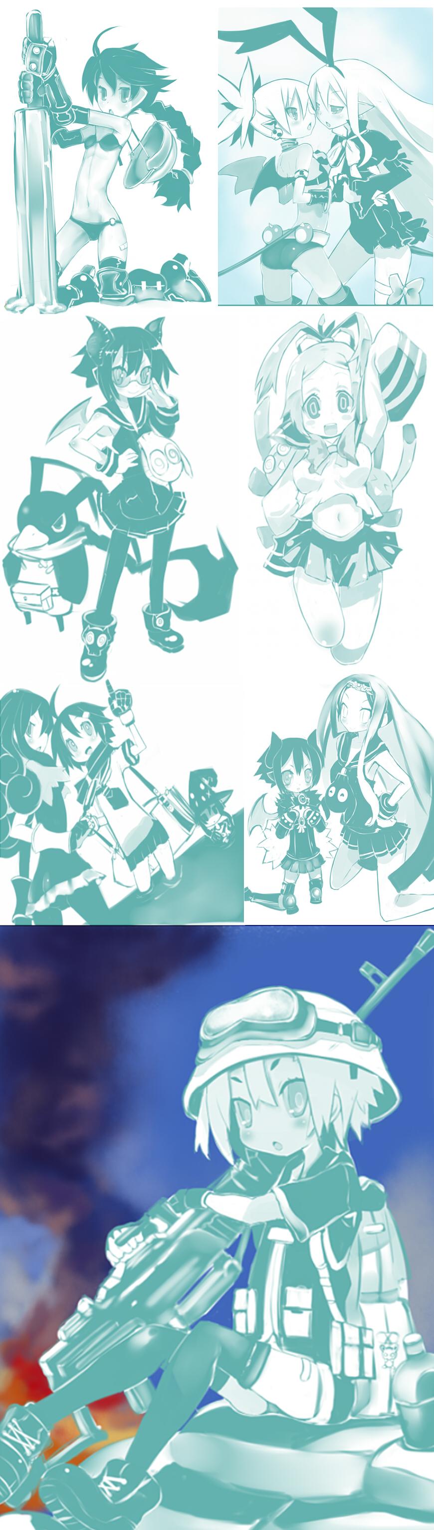 Practice drawings by Krmn-chan