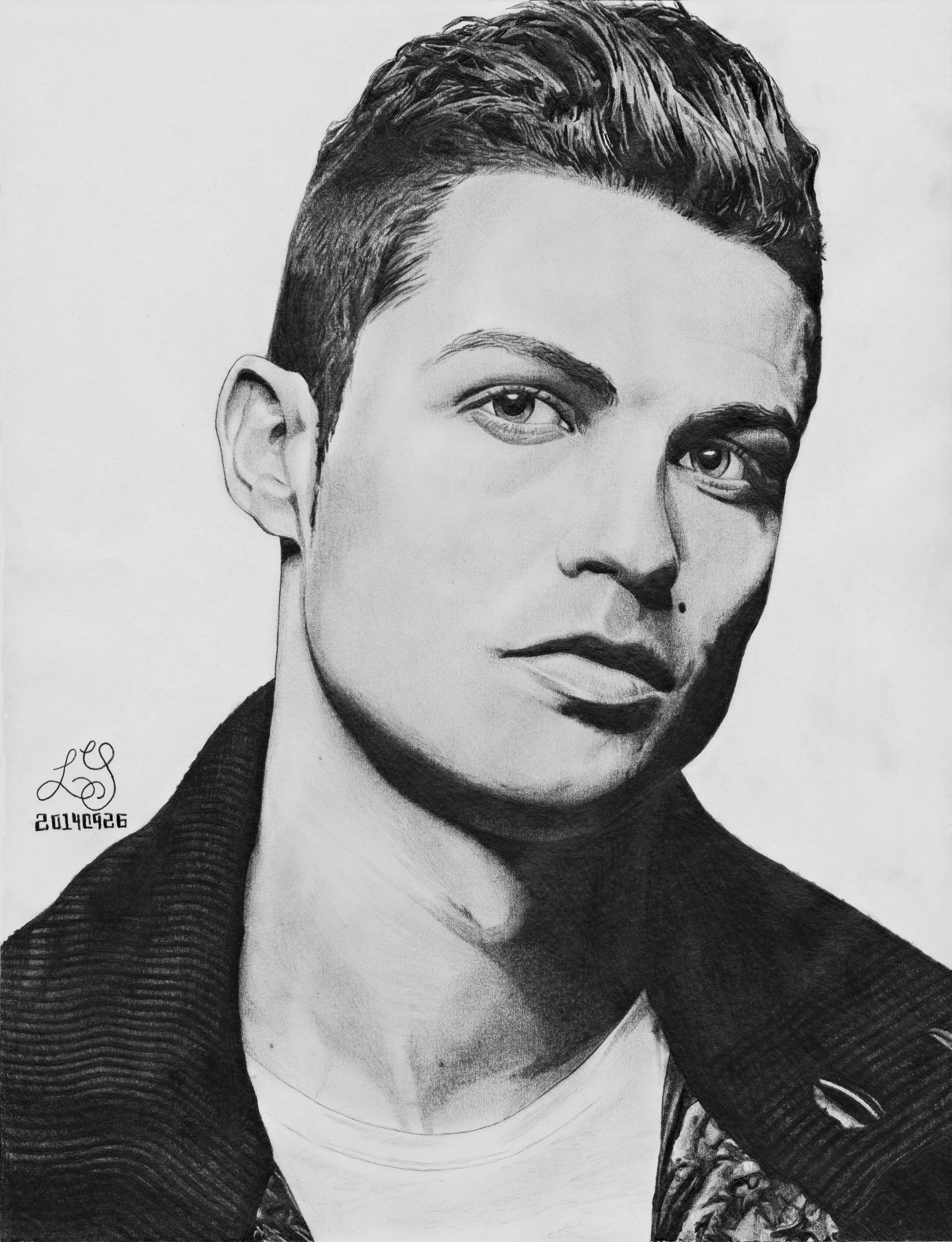 Cristiano Ronaldo Drawing By Wyckedness On Deviantart